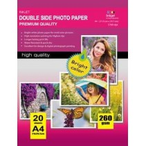 297X210MM A4 RC Glossy Inkjet Photo Paper 260g-20 Folhas
