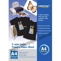 T-shirt escuro papel de transferência,120g/m2 A4 5 Folhas