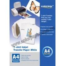 T-shirt branca papel de transferência,120g/m2  A4 5 Folhas